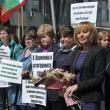 Мая Манолова на протест