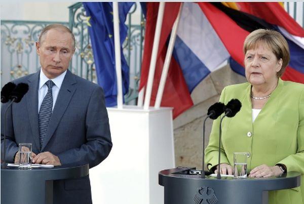 Меркел и Путин, снимка БТА