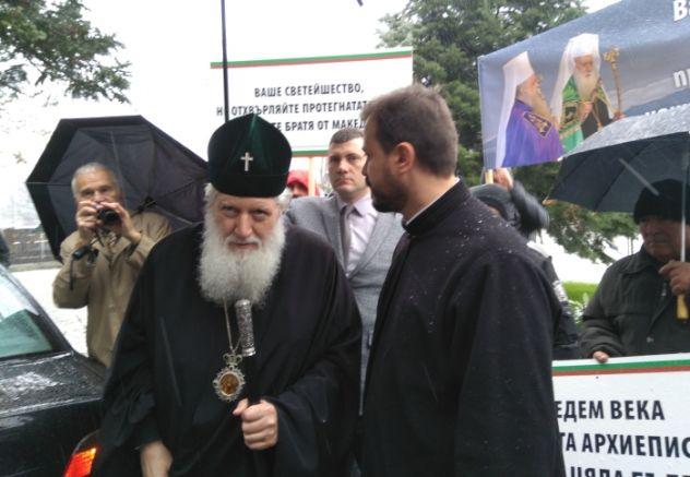 Патриарх Неофит преди важното заседание на Св. синод, снимка: Faktor.bg