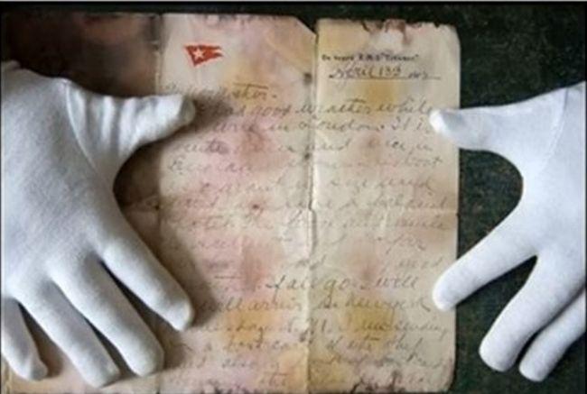 единственото оцеляло писмо, снимка: Youtube