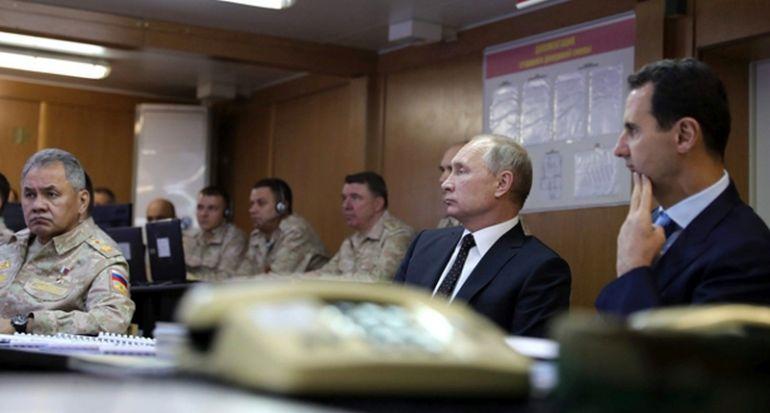 Путин и Башар Асад