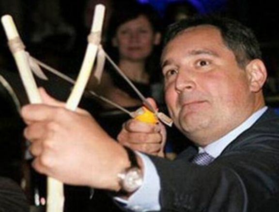 Рогозин онагледява изстрелването на ракетата