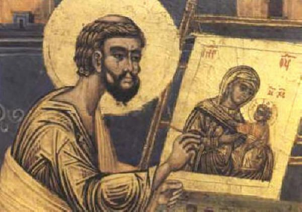 Св. апостол и евангелист Лука рисува икона на Пресвета Богородица