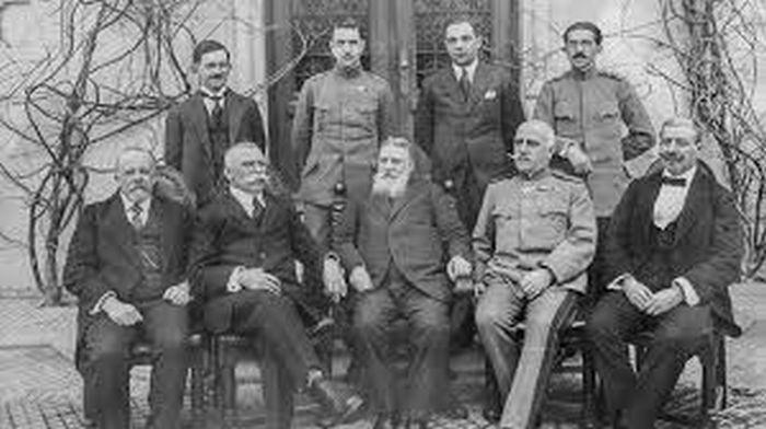Българската делегация, водена от премиера Радославов