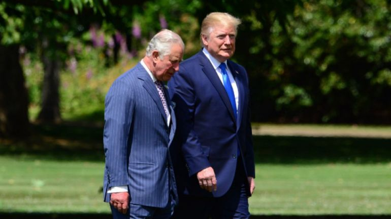 Принцът на Уелс и Доналд Тръмп