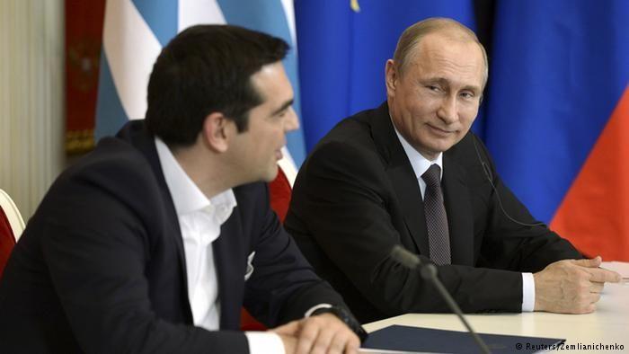 Алексис Ципрас и Владимир Путин