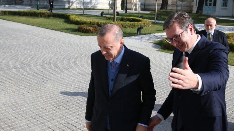 Реджеп Ердоган и Александър Вучич