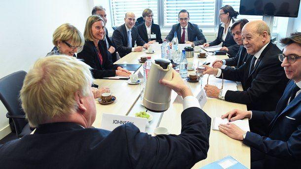 Външните министри на ЕС.Снимка: ЕПА/БГНЕС