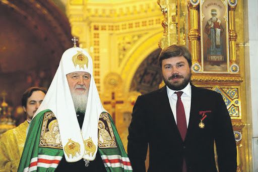 Патриарх Кирил и Константин Малофеев