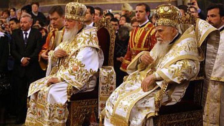 Патриарх Кирил по време на посещението си в София през 2012 г.