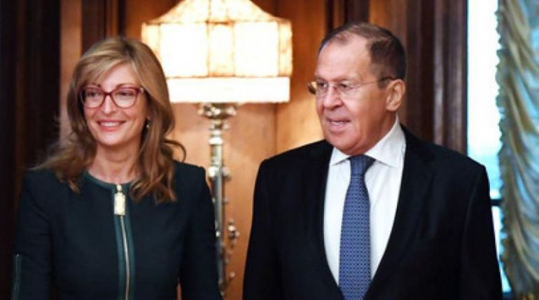 Екатерина Захариева и Сергей Лавров
