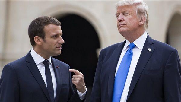 Какво ли си говорят Тръмп и Макрон