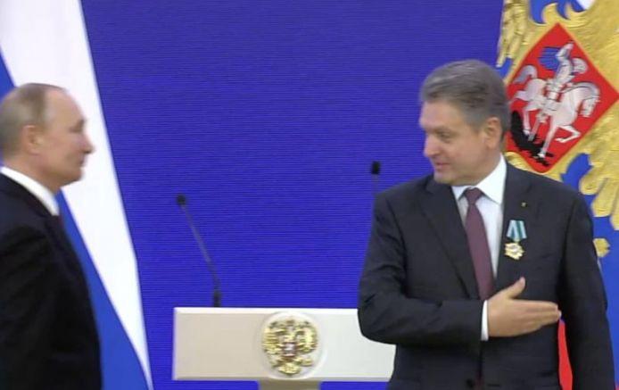 Малинов и Путин по време на церемонията