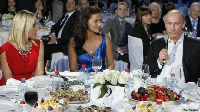 Орнела Мути на вечеря с Владимир Путин