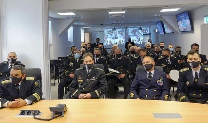 Част от офицерите, участвали в Оперативния сбор на командира на ВМС на 25 и 26 февруари. Няма болни, няма карантинирани