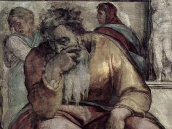 Пророк Йеремия. Творба на Микеланджело Буонароти, Сикстинска капела, 1511 г.