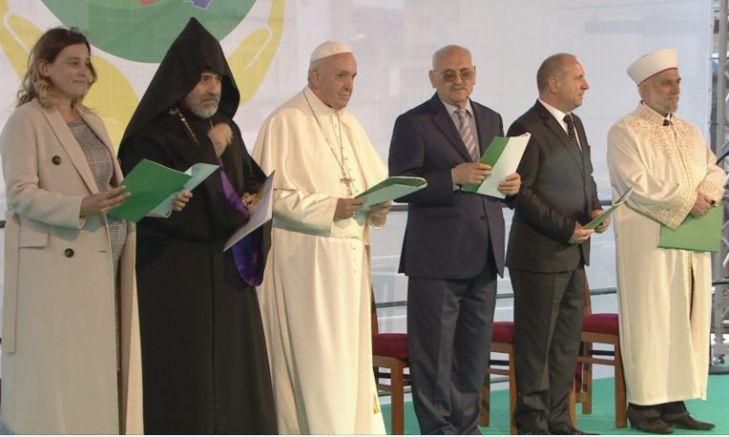 Молитвата за мир на Франциск с различни вероизповедания, без православните