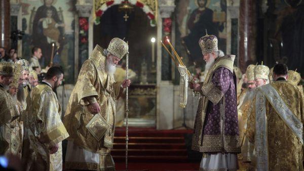 Божествена света литургия, отслужена от руския патриарх Кирил и българския патриарх Неофит