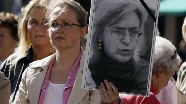 Образът на Анна Политковская се превърна в символ на гражданските протести