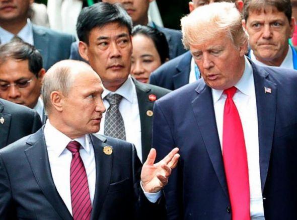 Тръмп с Господаря на Кремъл