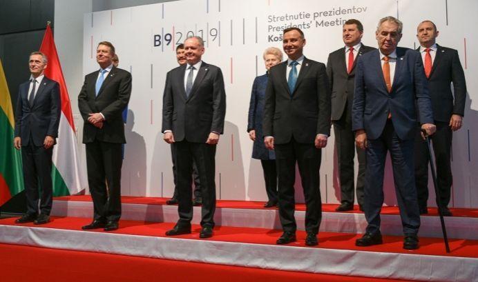 Румен Радев по време на срещата на B9
