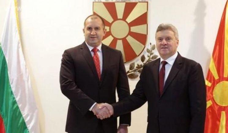 Румен Радев с президента на Република Македония Георге Иванов в Скопие