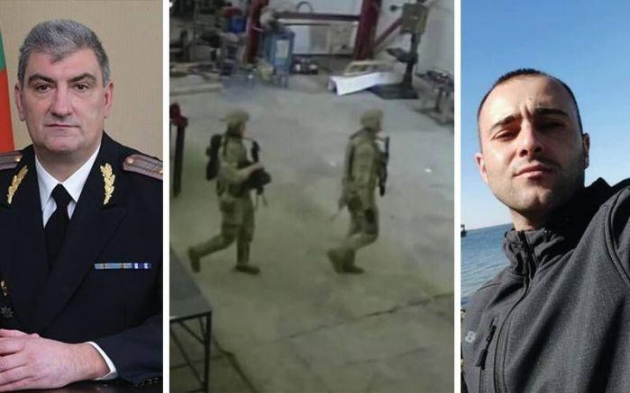 Бригаден генерал Сотиров, старши лейтенант Манчев и кадри от акцията на американските войници