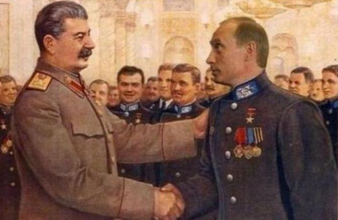 """Братя по злодейство  Сталин, Путин, путинизъм, диктатори, международен трибунал, """"от живите по-жив!"""""""