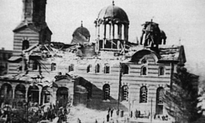 Храмът след атентата