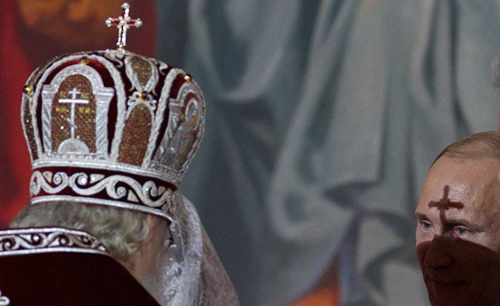 Патриарх Кирил и Владимир Путин
