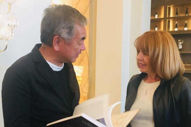 арх. Кенго Кума и Йорданка Фандъкова