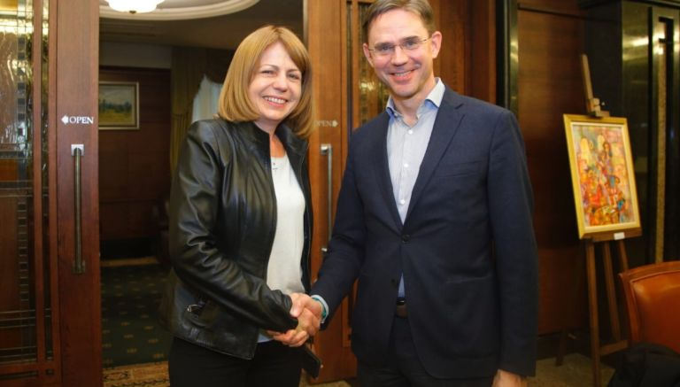 Йорданка Фандъкова и Юрки Катайнен