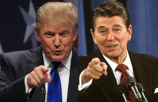 Президентите Рейгън и Тмърп