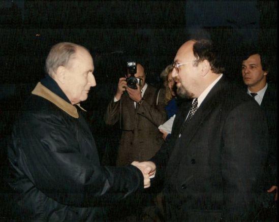 Франсоа Митеран и Александър Йорданов - януари 1994 г.