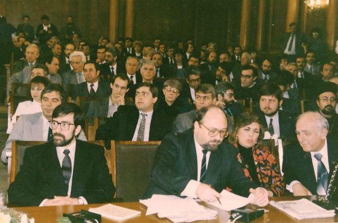 На първата редица - Филип Димитров, Александър Йорданов и Стефан Савов