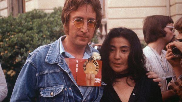 Джон Ленън и съпругата му Йоко Оно